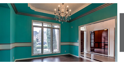 turquoise dining room, Russell Remodeling LIincoln
