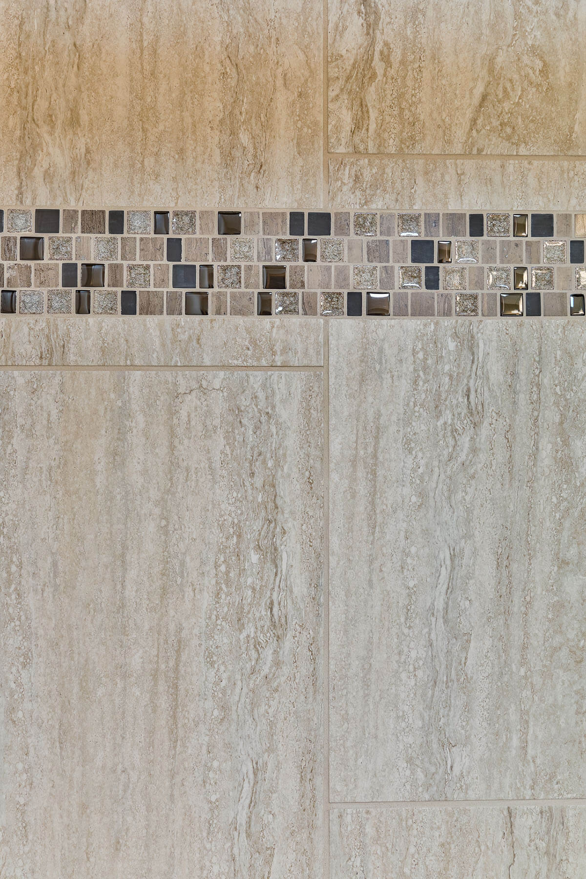 glass tiles in shower