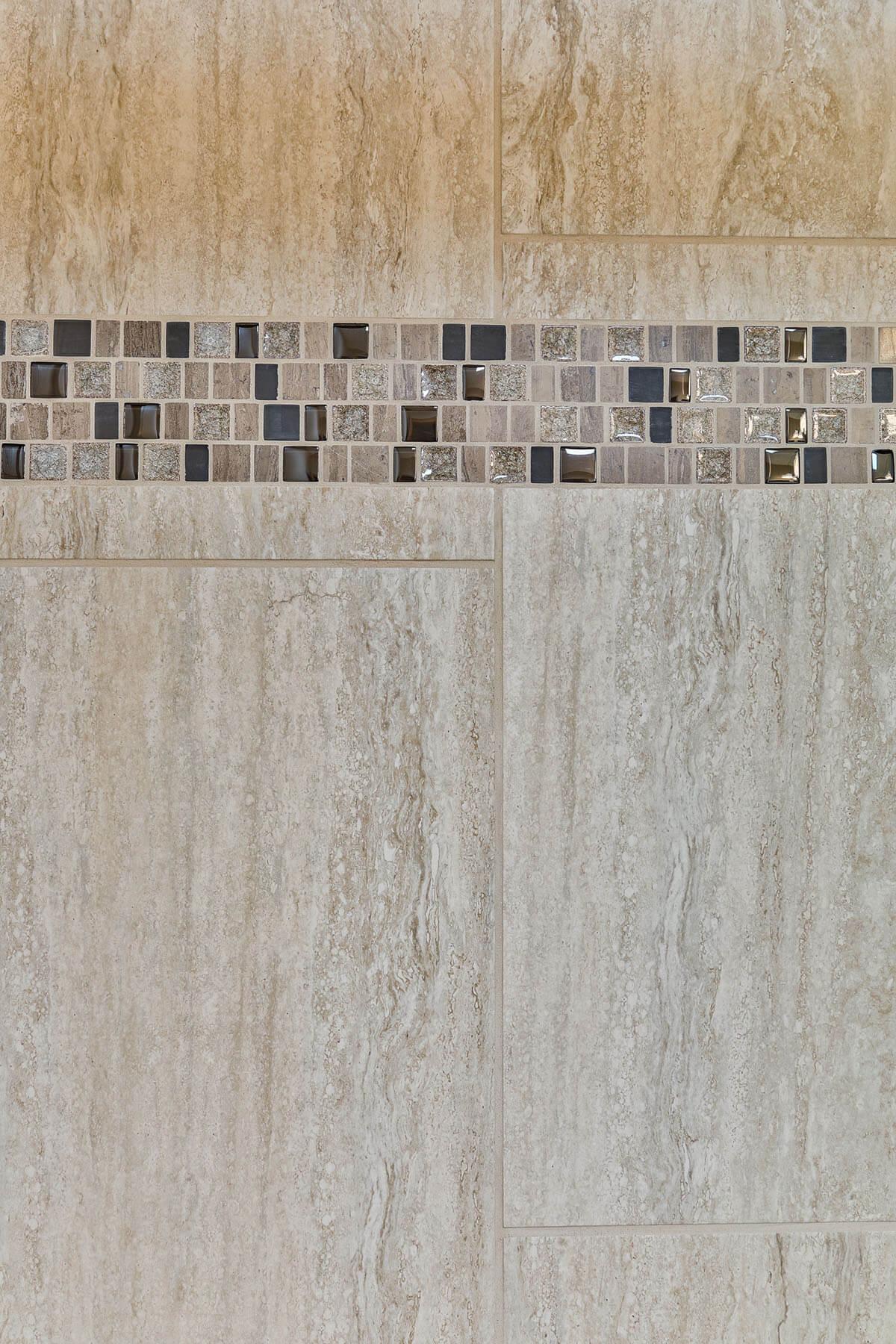 glass tiles in shower