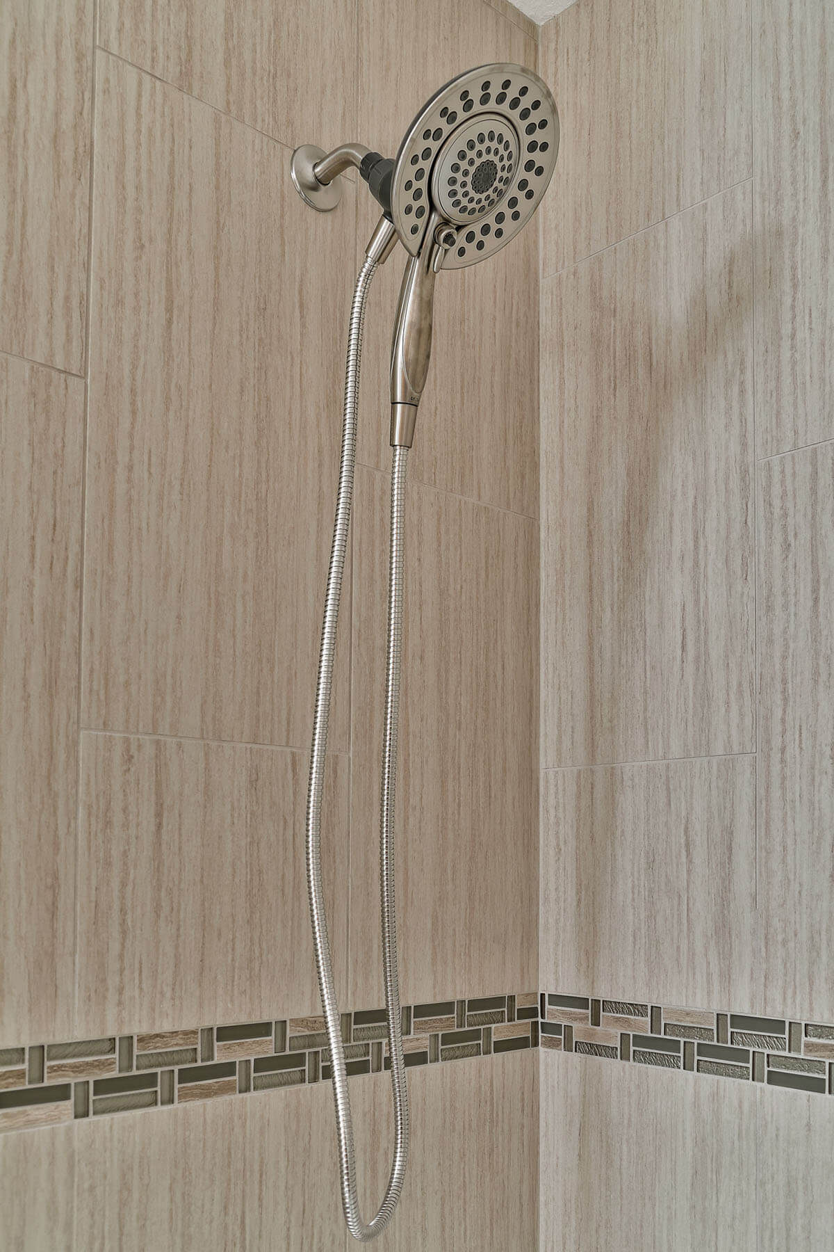 stainless shower head